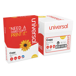 Universal Office Products Copy Paper Convenience Carton, 92 Bright, 20lb, 8.5 x 11, White, 500 Sheets/Ream, 5 Reams/Carton