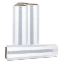 Universal Office Products Handwrap Stretch Film, 12 in x 1500 ft Roll, 20mic (80-Gauge), 4/Carton