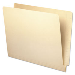 Universal Office Products Deluxe Reinforced End Tab Folders, Straight Tab, Letter Size, Manila, 100/Box