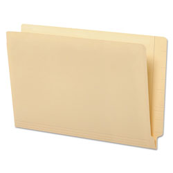 Universal Office Products Deluxe Reinforced End Tab Folders, Straight Tab, Legal Size, Manila, 100/Box