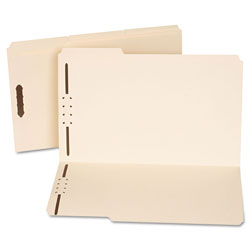 Universal Reinforced Top Tab Folders with Two Fasteners, 1/3-Cut Tabs, Legal Size, Manila, 50/Box