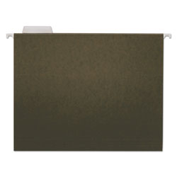 Universal Office Products Hanging File Folders, Letter Size, 1/5-Cut Tab, Standard Green, 25/Box