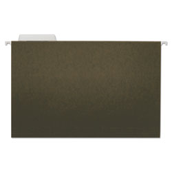 Universal Office Products Hanging File Folders, Legal Size, 1/3-Cut Tab, Standard Green, 25/Box