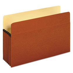 Universal Office Products Redrope Expanding File Pockets, 5.25 in Expansion, Legal Size, Redrope, 10/Box
