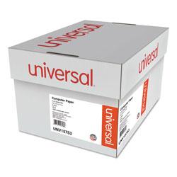 Universal Office Products Printout Paper, 2-Part, 15lb, 14.88 x 11, White/Green Bar, 1, 650/Carton