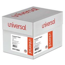 Universal Office Products Printout Paper, 1-Part, 20lb, 14.88 x 11, White/Blue Bar, 2, 400/Carton
