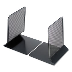 Universal Office Products Metal Mesh Bookends, 5 3/8 in x 6 3/4 in, Black