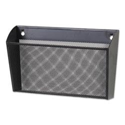 Universal Metal Mesh Wall FileSingle Pocket, 14 1/8 x 3 3/8 x 8 1/8, Letter, Black