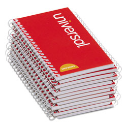 Universal Office Products Wirebound Memo Book, Narrow Rule, 5 x 3, White, 50 Sheets, 12/Pack