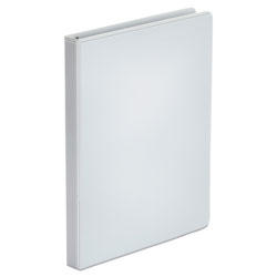 Universal Office Products Economy Round Ring View Binder, 3 Rings, 0.5 in Capacity, 11 x 8.5, White