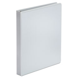 Universal Office Products Economy Round Ring View Binder, 3 Rings, 1 in Capacity, 11 x 8.5, White, 12/Carton