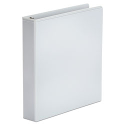 Universal Office Products Economy Round Ring View Binder, 3 Rings, 1.5 in Capacity, 11 x 8.5, White, 6/Pack
