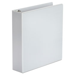 Universal Office Products Economy Round Ring View Binder, 3 Rings, 2 in Capacity, 11 x 8.5, White, 6/Pack
