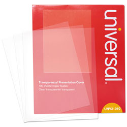 Universal Office Products Transparent Sheets, B&W Laser/Copier, Letter, Clear, 100/Pack