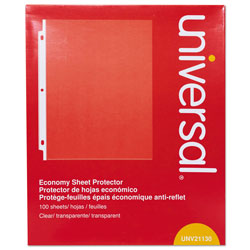 Universal Office Products Top-Load Poly Sheet Protectors, Economy, Letter, 100/Box
