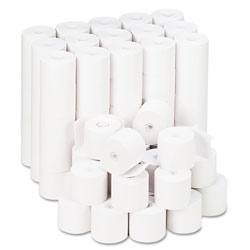 Universal Office Products Impact & Inkjet Print Bond Paper Rolls, 0.5 in Core, 2.25 in x 165ft, White, 100/Carton