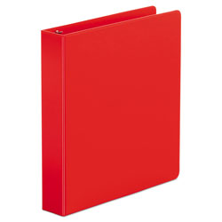 Universal Economy Non-View Round Ring Binder, 3 Rings, 1.5 in Capacity, 11 x 8.5, Red