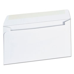 Universal Office Products Business Envelope, #6 3/4, Square Flap, Gummed Closure, 3.63 x 6.5, White, 500/Box