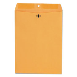 Universal Office Products Kraft Clasp Envelope, #90, Square Flap, Clasp/Gummed Closure, 9 x 12, Brown Kraft, 100/Box