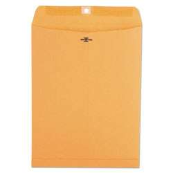 Universal Office Products Kraft Clasp Envelope, #93, Square Flap, Clasp/Gummed Closure, 9.5 x 12.5, Brown Kraft, 100/Box