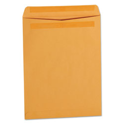 Universal Office Products Self-Stick Open-End Catalog Envelope, #13 1/2, Square Flap, Self-Adhesive Closure, 10 x 13, Brown Kraft, 250/Box
