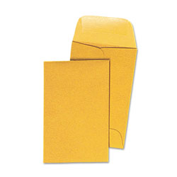Universal Office Products Kraft Coin Envelope, #1, Round Flap, Gummed Closure, 2.25 x 3.5, Light Brown Kraft, 500/Box