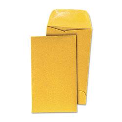 Universal Office Products Kraft Coin Envelope, #7, Round Flap, Gummed Closure, 3.5 x 6.5, Light Brown Kraft, 500/Box