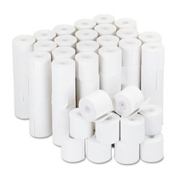 Universal Office Products Impact & Inkjet Print Bond Paper Rolls, 0.5 in Core, 2.25 in x 126ft, White, 100/Carton