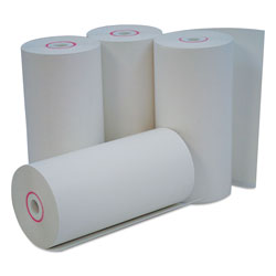 Universal Office Products Direct Thermal Print Paper Rolls, 0.38 in Core, 4.38 in x 127ft, White, 50/Carton