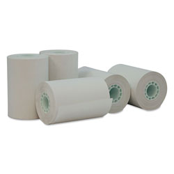 Universal Office Products Direct Thermal Print Paper Rolls, 0.5 in Core, 2.25 in x 55 ft, White, 50/Carton