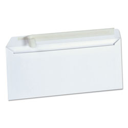 Universal Peel Seal Strip Business Envelope, #10, Square Flap, Self-Adhesive Closure, 4.13 x 9.5, White, 500/Box