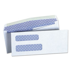 Universal Office Products Double Window Business Envelope, #8 5/8, Square Flap, Gummed Closure, 3.63 x 8.63, White, 500/Box