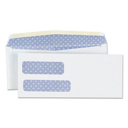 Universal Office Products Double Window Business Envelope, #9, Blade Flap, Gummed Closure, 3.88 x 8.88, White, 500/Box