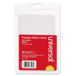 Universal Office Products Self-Adhesive Postage Meter Labels, 2.75 x 1.5 - 5.5 x 1.5, White, 4/Sheet, 40 Sheets/Pack
