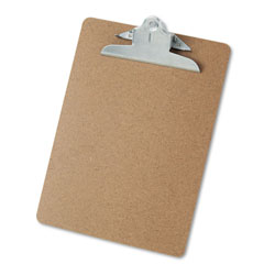 Universal Office Products Hardboard Clipboard, 1 in Capacity, Holds 8 1/2 x 11, Brown