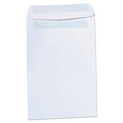 Universal Self-Stick Open-End Catalog Envelope, #1, Square Flap, Self-Adhesive Closure, 6 x 9, White, 100/Box
