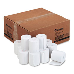Universal Office Products Impact & Inkjet Printing Bond Paper Rolls, 0.5 in Core, 3 in x 165 ft, White, 50/Carton