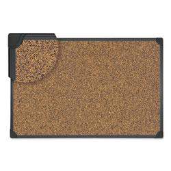 Universal Tech Cork Board, 36 x 24, Cork, Black Plastic Frame