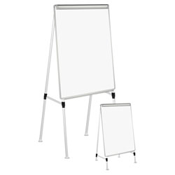 Universal Dry Erase Easel Board, Easel Height: 42 in to 67 in, Board: 29 in x 41 in, White/Silver