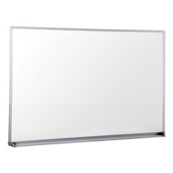 Universal Office Products Dry Erase Board, Melamine, 36 x 24, Satin-Finished Aluminum Frame