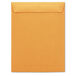 Universal Office Products Catalog Envelope, #13 1/2, Square Flap, Gummed Closure, 10 x 13, Brown Kraft, 250/Box