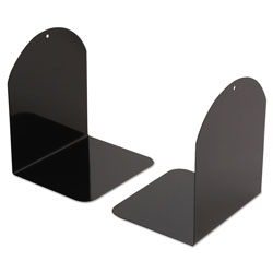 Universal Office Products Magnetic Bookends, 6 x 5 x 7, Metal, Black