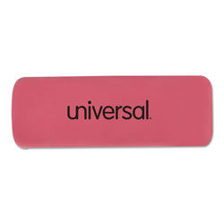 Universal Office Products Bevel Block Erasers, Rectangular, Small, Pink, Elastomer, 20/Pack