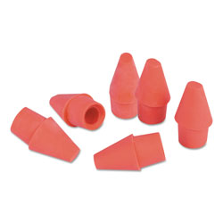 Universal Office Products Pencil Cap Erasers, Pink, Elastomer, 150/Pack