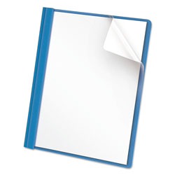 Universal Clear Front Report Cover, Tang Fasteners, Letter Size, Light Blue, 25/Box
