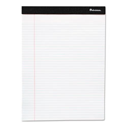 Universal Office Products Premium Ruled Writing Pads, Narrow Rule, 5 x 8, White, 50 Sheets, 12/Pack