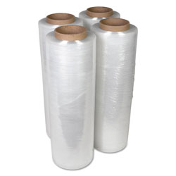 Universal Office Products Handwrap Stretch Film, 18 in x 2000ft Roll, 15mic (60-Gauge), 4/Carton