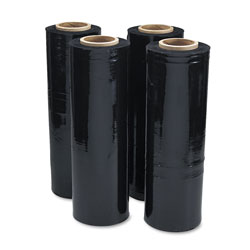 Universal Office Products Black Stretch Film, 18 in x 1, 500ft Roll, 20mic (80-Gauge), 4/Carton