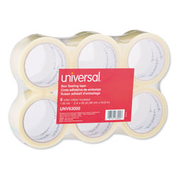 Universal Office Products General-Purpose Box Sealing Tape, 3 in Core, 1.88 in x 60 yds, Clear, 6/Pack