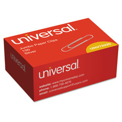 Universal Office Products Paper Clips, Jumbo, Silver, 100/Box